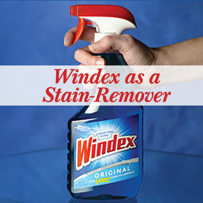 Windex as a stain-remover